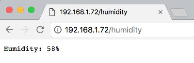 DHT11 humidity data