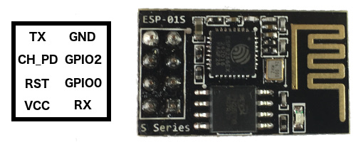 ESP-01S pin layout