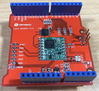 Dragino Lora Shield v95 868MHZ Arduino Wireless Shield