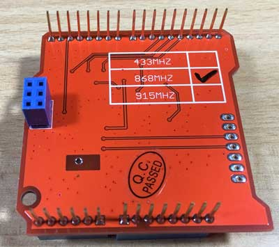 Dragino Lora Shield bottom view