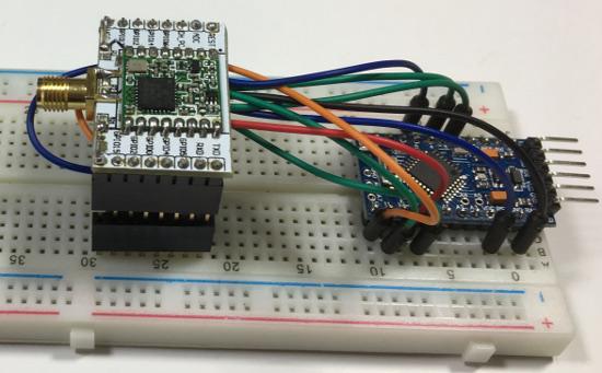 Mobilefish com - Build Lora node using Arduino Pro Mini and HopeRF