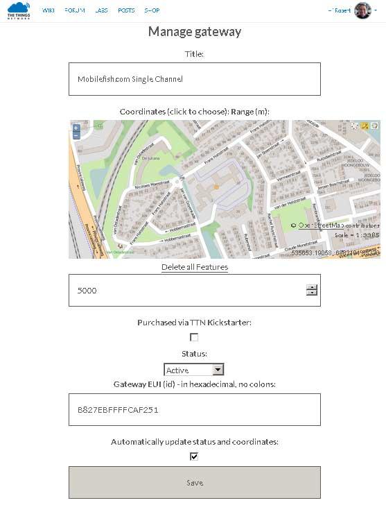Mobilefish com - Build Lora gateway using Raspberry Pi 3