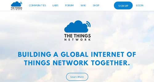 The Things Network signup