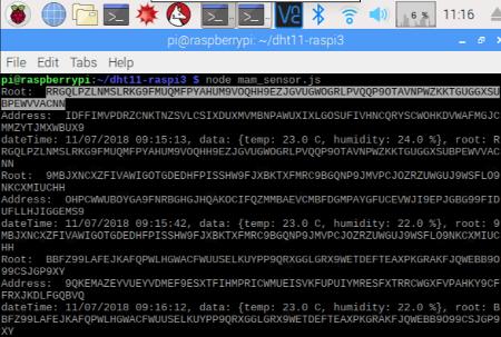 Mobilefish com - Send DHT11 sensor data using Raspberry Pi 3 to IOTA