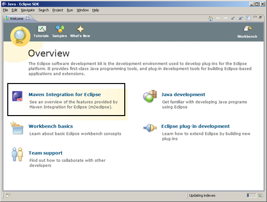 Eclipse Maven plugin is installed