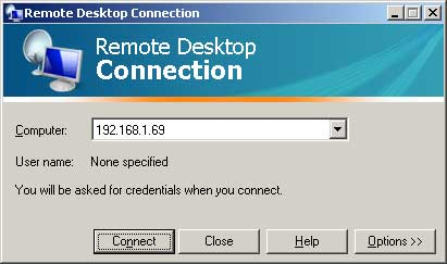 Connect to the Raspberry Pi using Remote Desktop Connection