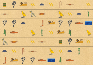 Hieroglyph background image paper 1