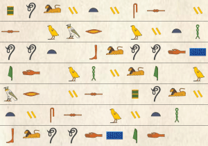 Hieroglyph background image paper 2