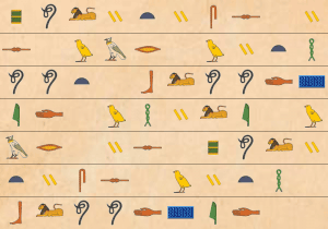 Hieroglyph background image paper 3
