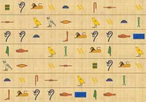 Hieroglyph background image paper 4