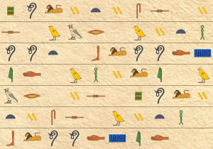 Hieroglyph background image paper 5