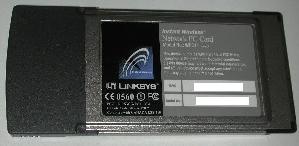 Re Instant Wireless Network PC Card ver.3 - wpc11 question
