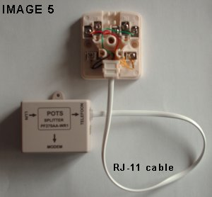 RJ 11 cable.